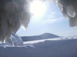 Yes, I am INSIDE lake Baikal.